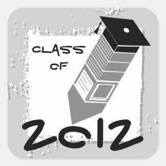 Graduation Pencil Sticker Gray