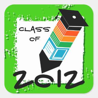 Graduation Pencil Sticker Green