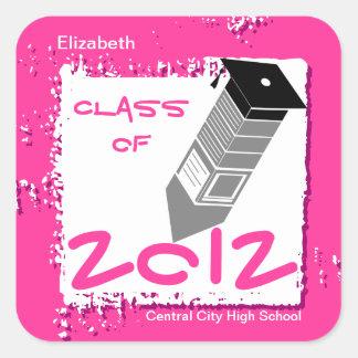 Graduation Pencil Sticker Pink