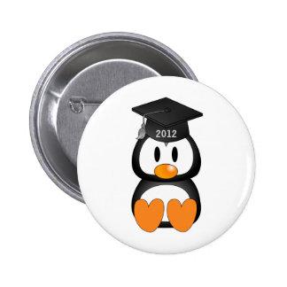 Graduation Penguin Pinback Button