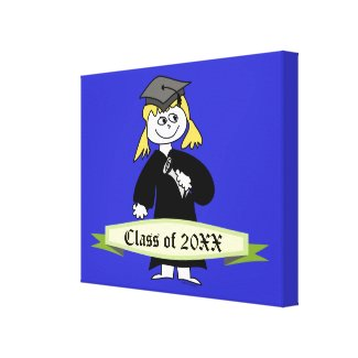 Graduation Personalized Class of Stretched Canvas Print