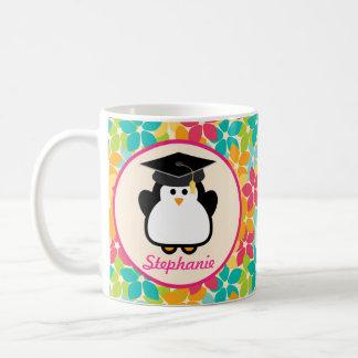 Graduation personalized penguin gift idea classic white coffee mug