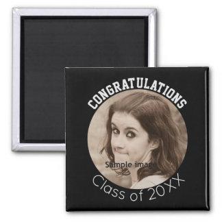 Graduation Photo Black & White   Congratulations Magnet