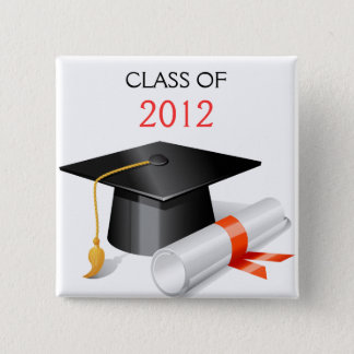 Graduation photo card button