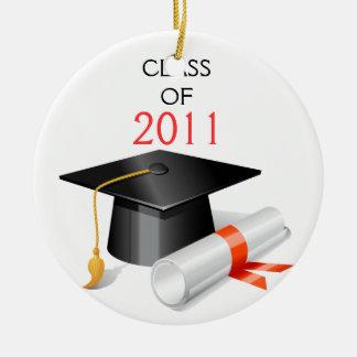 Graduation photo card ceramic ornament