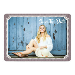 Save the date graduation invitations announcements zazzle graduation photo card modern vintage save the date filmwisefo Gallery