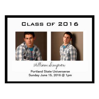 graduation photo card template invite