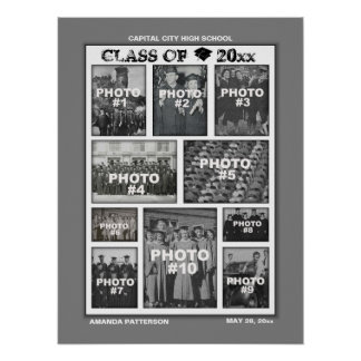 Graduation Photo Collage 10 Images Poster