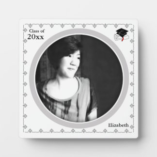 Graduation Photo Frame Plaque White 1