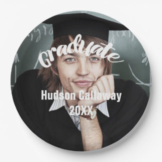 Graduation Photo Name of Graduate Year Paper Plate