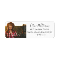 Graduation Photo Personalized Label