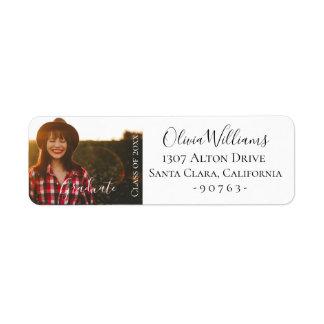 Graduation Photo Personalized Label