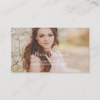 Graduation Photo Pink Profile Insert Card