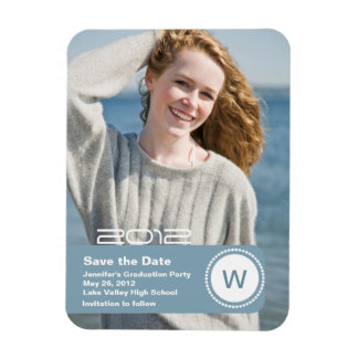 Graduation Photo Save the Date Magnet