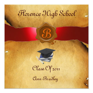 GRADUATION PHOTO TEMPLATE PARCHMENT red Wax Seal