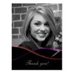 Graduation Photo Thank You Card : Custom Postcard