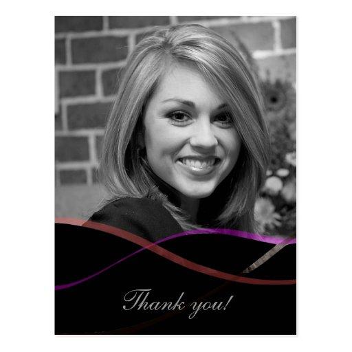 Graduation Photo Thank You Card : Custom Postcards