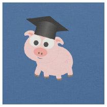 Graduation Pig Fabric