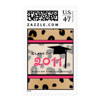 Graduation Postage - Class of 2011 Leopard Print