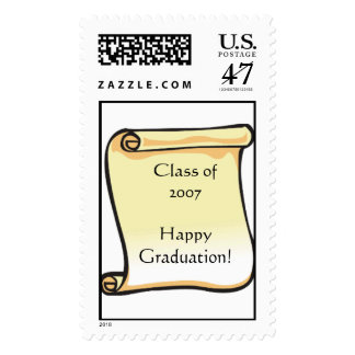 Graduation Postage Stamp