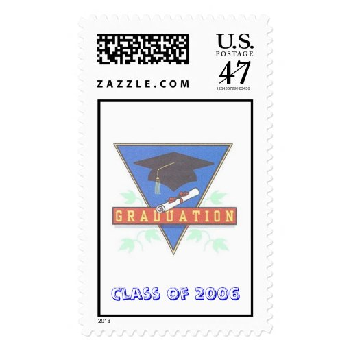 Graduation Postage Stamp