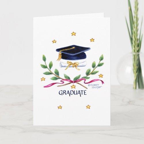 Graduation Religious  Victory Emblem Greeting Card