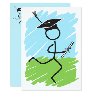 Graduation Runner © Party Cross Country Track Card