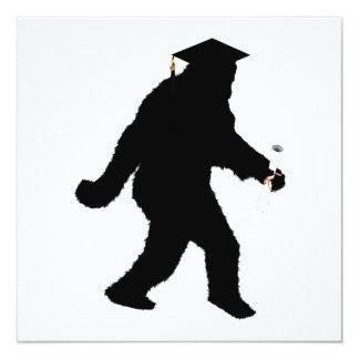 Graduation Sasquatch with Grad Cap Custom Announcements