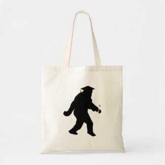 Graduation Sasquatch with Grad Cap Tote Bag