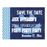 Graduation Save the Date Any Year Modern V10P Postcard