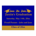 Graduation Save The Date Card Gold Postcards