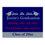Graduation Save The Date Card With Silver Postcard