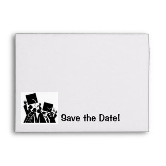 Graduation Save the Date Envelope