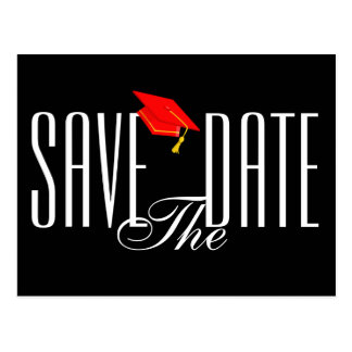 Graduation Save the Date Postcard Invitation
