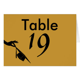 Graduation Sch Colors Blue Gold Table Number Cards