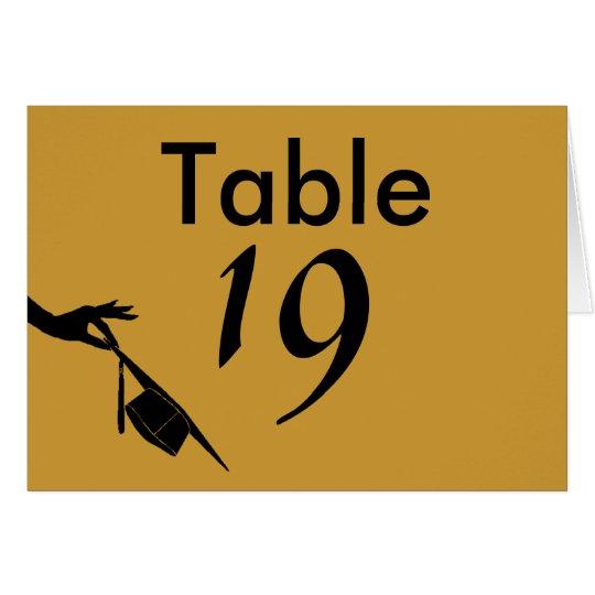 Graduation Sch | Graduation Sch Colors Blue Gold Table Number Cards Zazzle Com