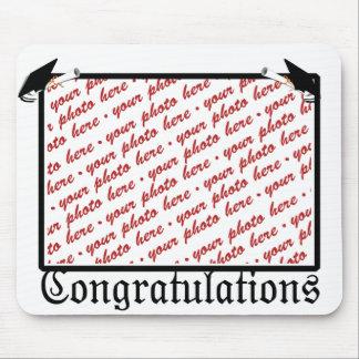 Graduation School Colors Black & Gold Frame Mouse Pad