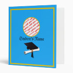 Graduation School Colors Blue And Gold Binder