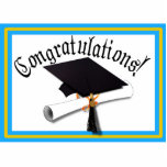 Graduation School Colors Blue And Gold Acrylic Cut Out