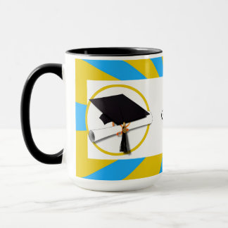 Graduation School Colors Blue And Gold (ZOOM!) Mug