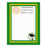 Graduation School Colors Gold & Green Personalized Letterhead