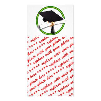 Graduation School Colors Gold & Green Photo Card