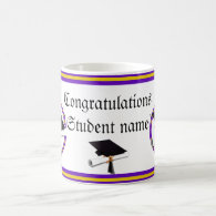 Graduation School Colors Purple and Gold Classic White Coffee Mug