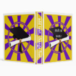 Graduation School Colors Purple and Gold (ZOOM!) 3 Ring Binders