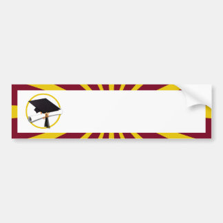 Graduation School Colors Red And Gold (ZOOM!) Bumper Sticker