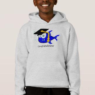Graduation Shark, A unique and funny shark Hoodie