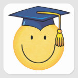 Graduation Smiley Face Sticker