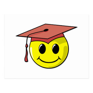 Graduation Smiley T-shirts and Gifts Post Cards