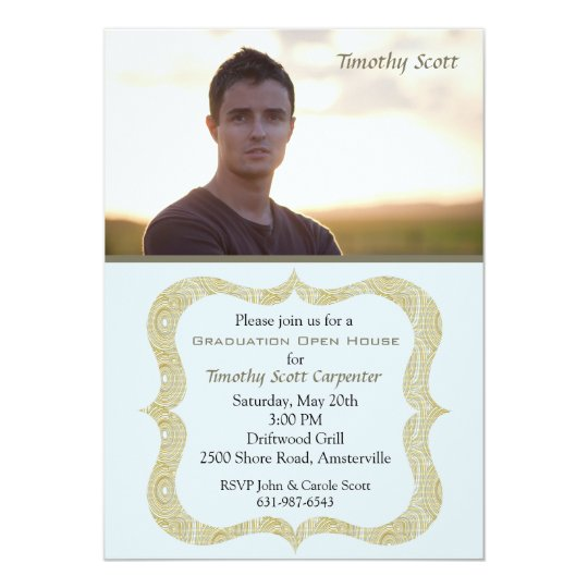 Graduation Spirit Photo Invitation