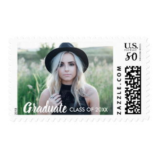 Graduation Stamp with Photo Class of 2018 custom